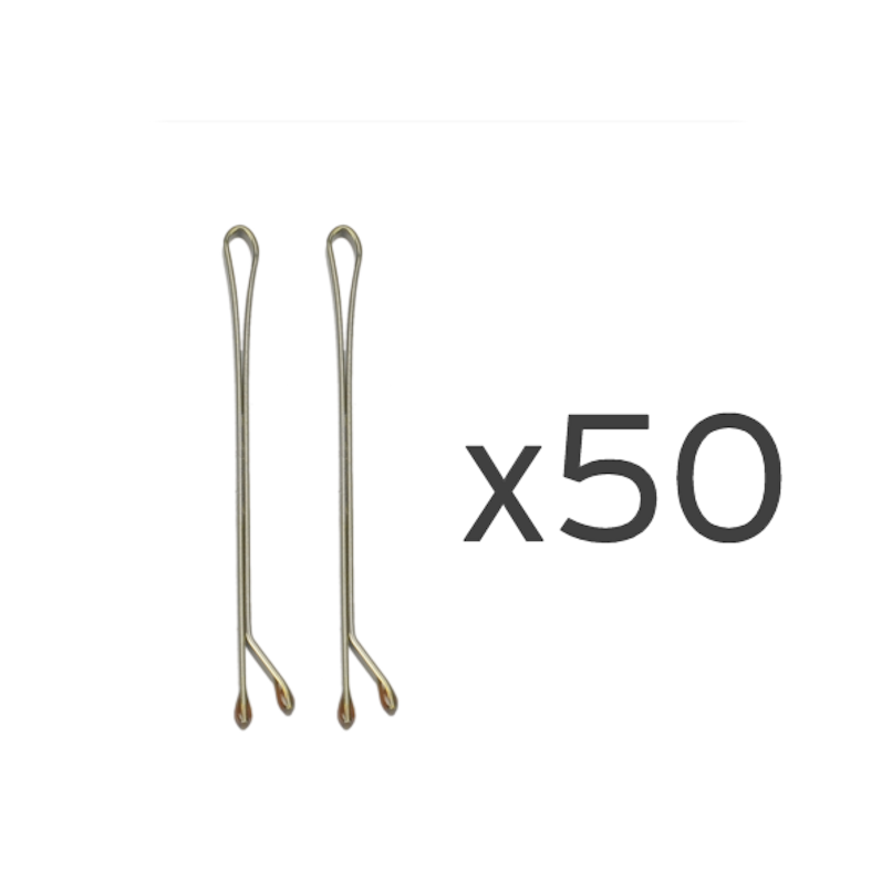 50 Ganchos bola bronze 5cm