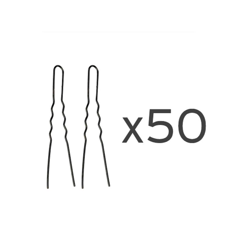 50 Ganchos invisíveis pretos 55mm