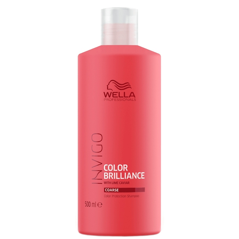 Wella Invigo Color Brilliance Shampoo Cabelo Grosso 500ml