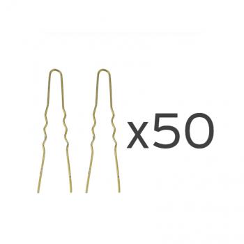 50 Ganchos invisíveis bronze 55mm