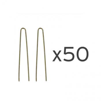 50 Ganchos invisíveis bronze 6cm