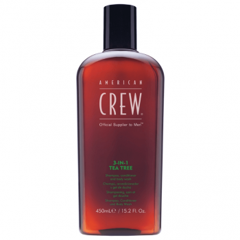 American Crew 3 em 1 Tea Tree 450ml