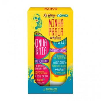 Kit Shampoo e Condicionador Novex Minha Praia 300ml