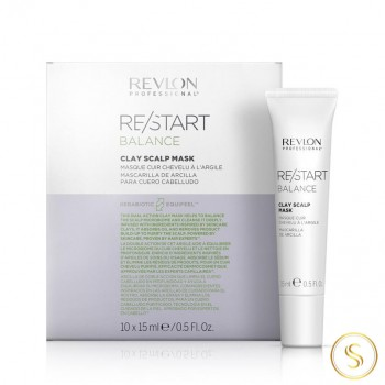 Revlon Restart Balance Clay Scalp Mask 10x15ml