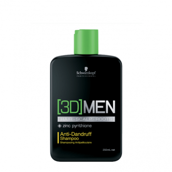 Schwarzkopf 3D Men Champô Anti-Caspa - Anti-Dandruff Shampoo 250ml