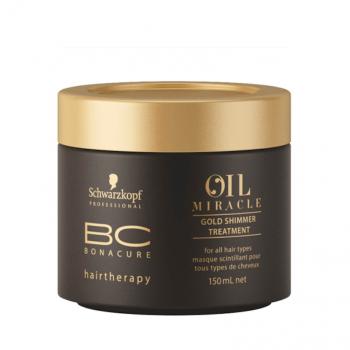 Schwarzkopf BC Oil Miracle Máscara Brilho de Ouro para Cabelo Espesso 150ml