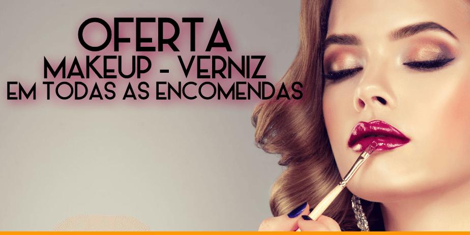 Oferta de Makeup ou Verniz em todas as encomendas